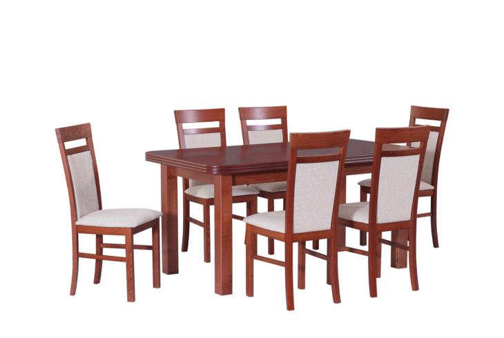 Stôl WENUS 5 + stoličky MILANO 6 (6ks.) - súprava DX30 -viac farieb