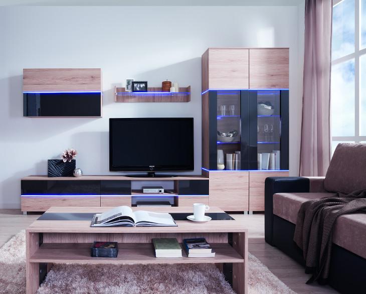 Lacná obývacia stena ADEN zostava 1