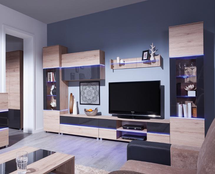 Moderná obývacia stena ADEN zostava 2
