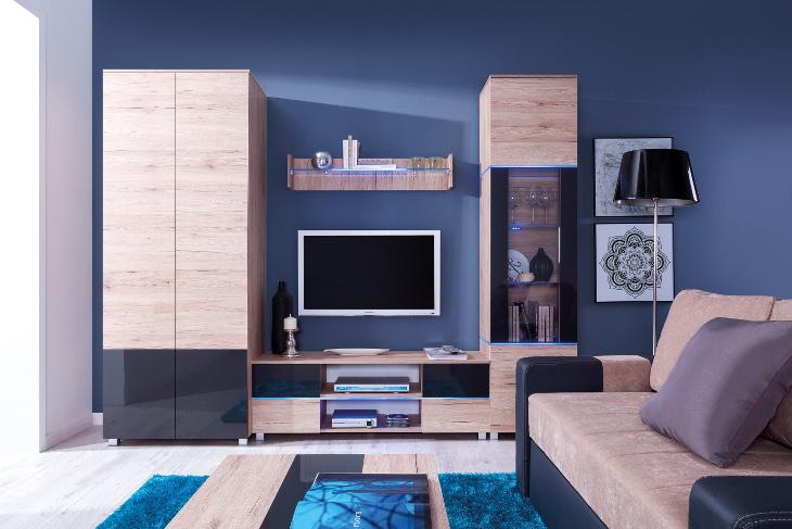 Moderná obývacia stena ADEN zostava 4