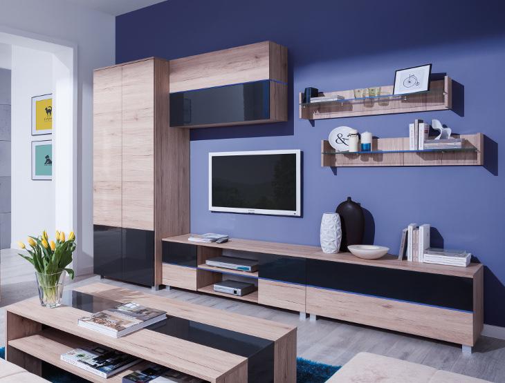 Moderný nábytok do obývacej izby ADEN zostava 6