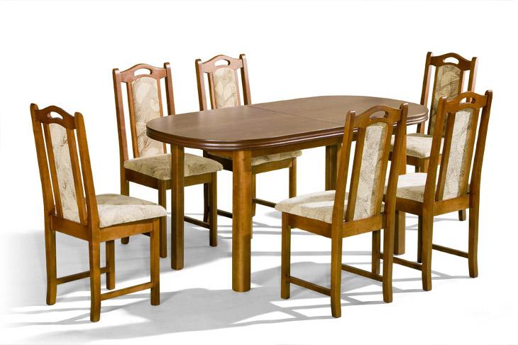 Stôl Ares + stoličky P-11 (1+6) - Súprava M21 - viac farieb