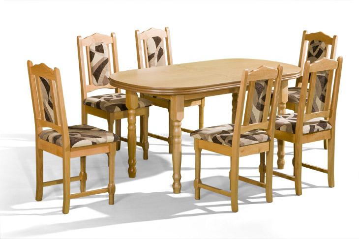 Stôl Ares 1 + stoličky P-3 (1+6) - Súprava M26 - viac farieb