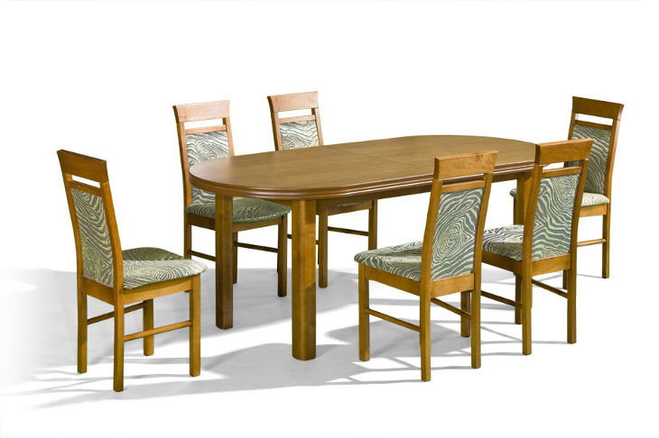Stôl Baron + stoličky P-13 (1+6) - Súprava M16 - viac farieb