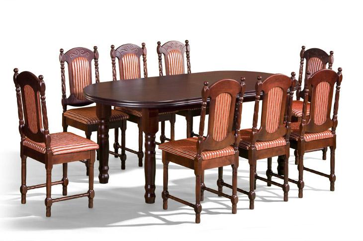 Stôl Baron 1 + stoličky P-4 (1+8) - Súprava M24 - viac farieb
