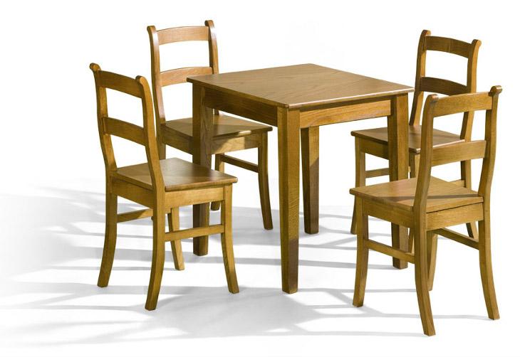 Stôl BELG + stoličky K-9 (1+4) - Súprava M8