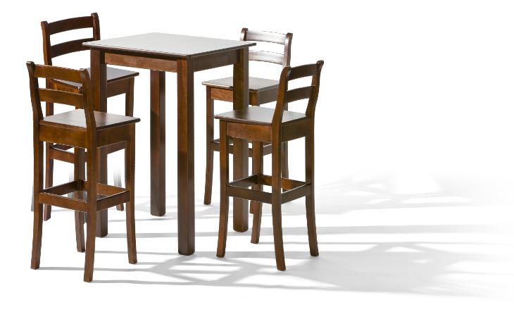 Stôl BELG 1 + stoličky H-8 (1+4) - Súprava M7