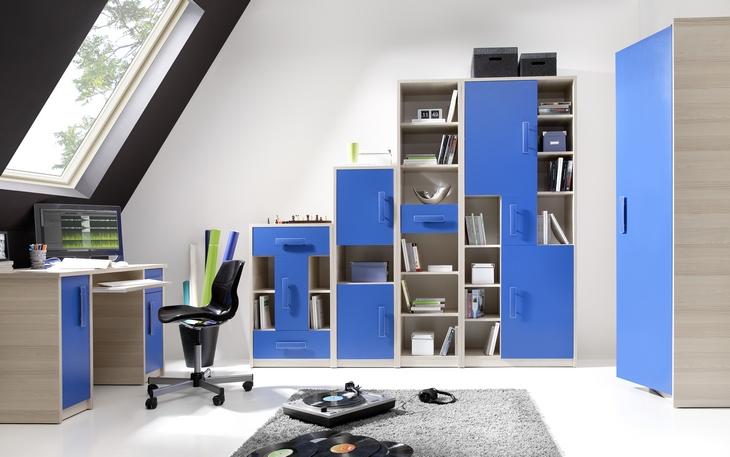 Modený nábytok do detskej izby BREGI Zostava 14