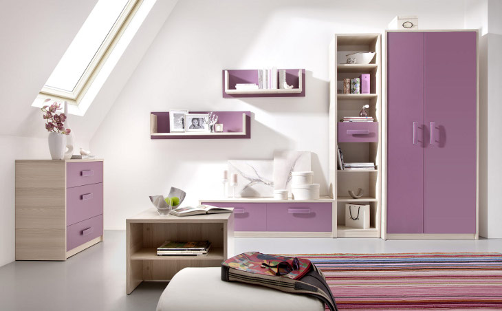 Moderný nábytok do detskej izby BREGI Zostava 16