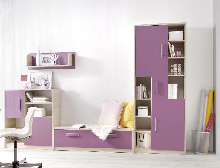 Moderný nábytok do detskej izby BREGI Zostava 6