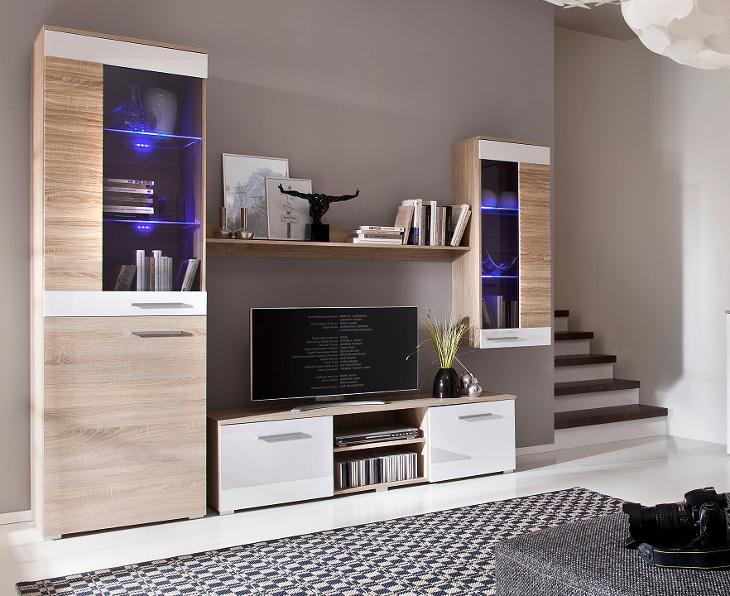 Moderná obývacia stena BRICO zostava 2