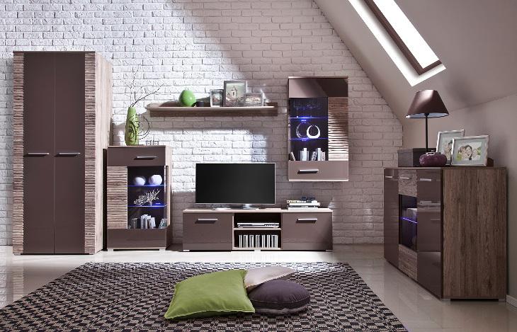 Luxusná obývacia stena BRICO zostava 3