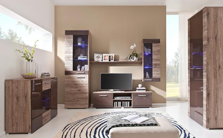 Luxusný nábytok do obývacej izby BRICO zostava 4