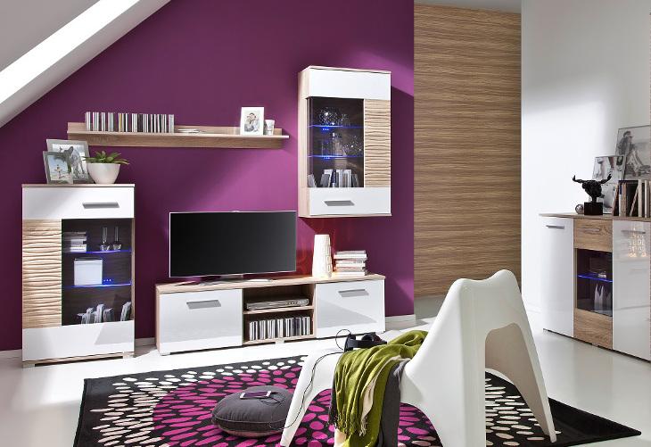 Moderná obývacia stena BRICO Zostava 5