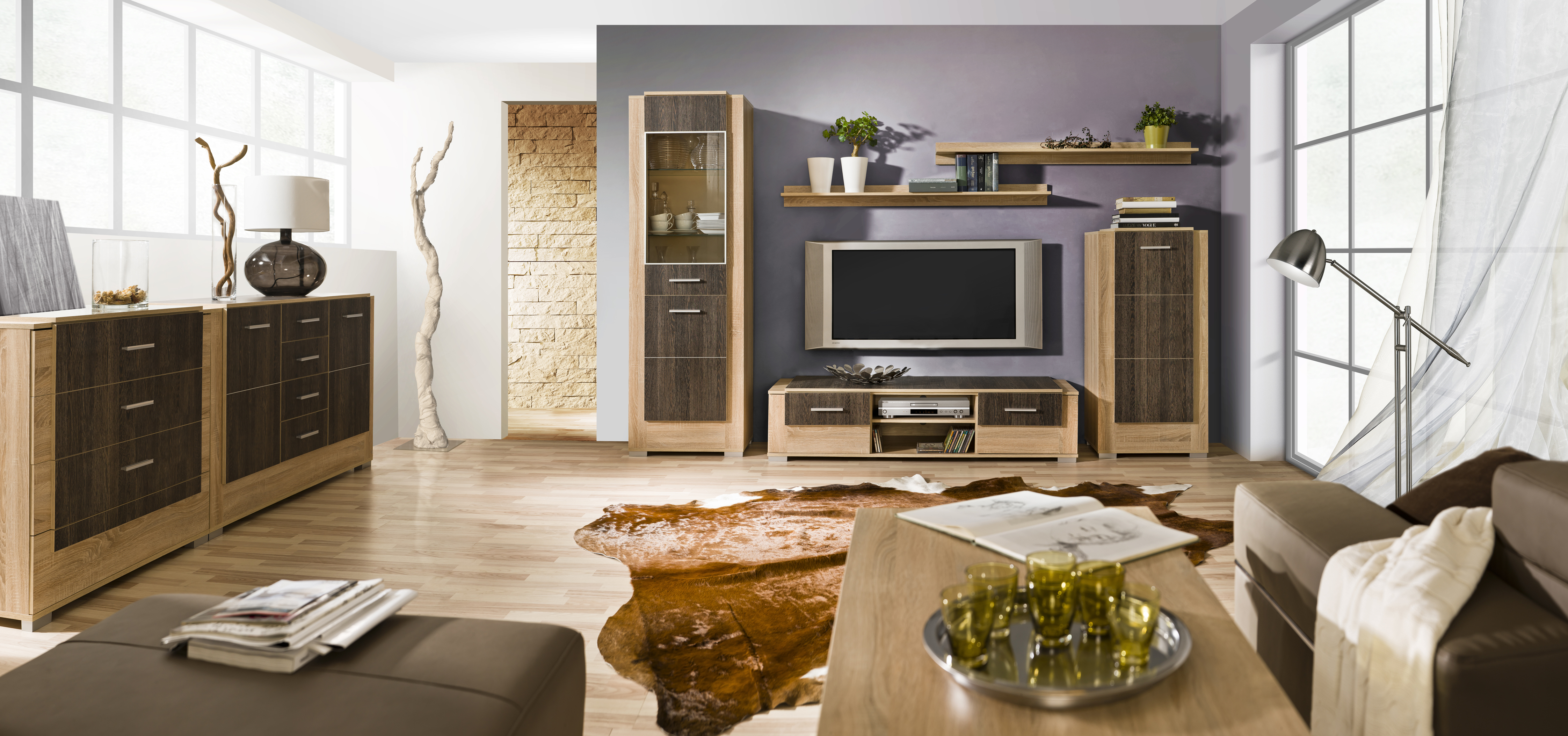 Trendy nábytok do obývacej izby CARMELO Zostava 1