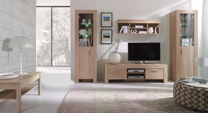 Trendy nábytok do obývacej izby CEZAR Zostava 3 sonoma