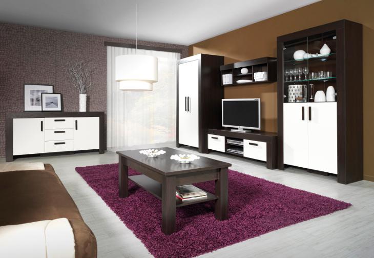 Elegantný nábytok do obývacej izby CEZAR Zostava 5