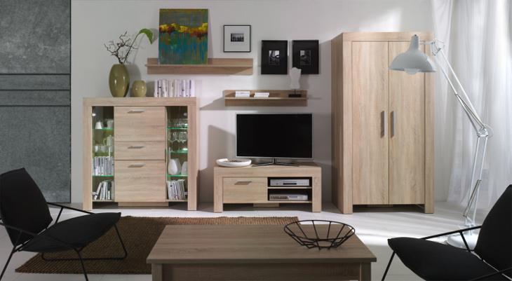 Moderná obývacia stena CEZAR Zostava 1 sonoma