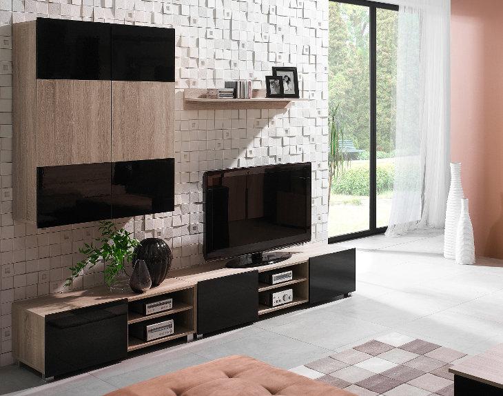 Lacný nábytok do obývacej izby GALIA sonoma