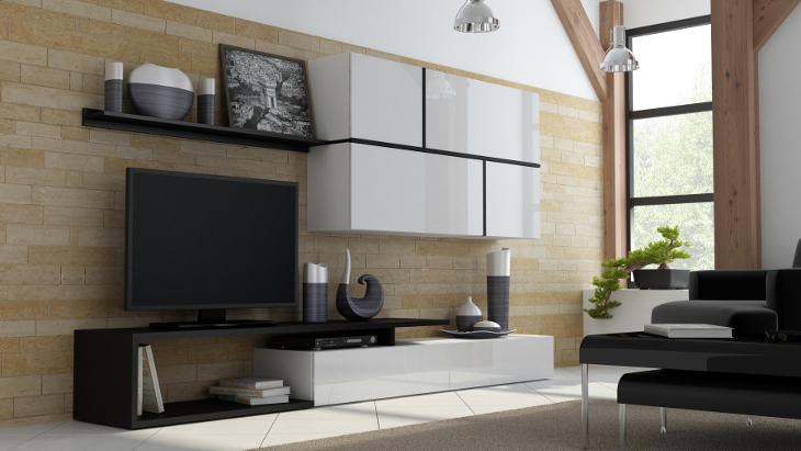 Moderná a lacná obývacia stena GOYA A