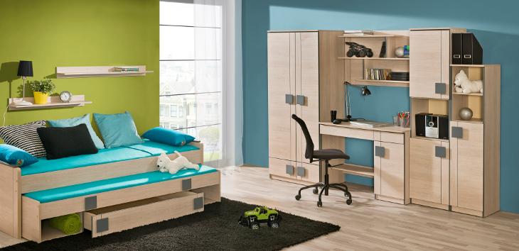 Moderná a lacná detská izba GUMI zostava 1