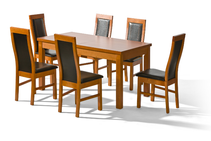 Stôl LOGAN + stoličky P-27 (1+6) - Súprava M3 - viac farieb