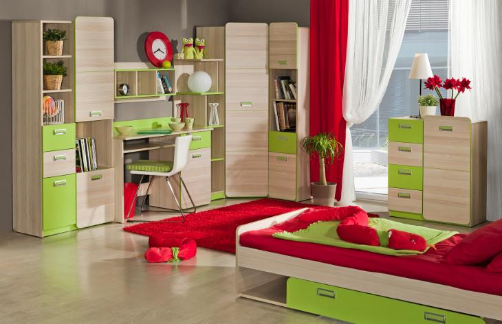 Moderná detská a študentská izba LORENTO zostava 1