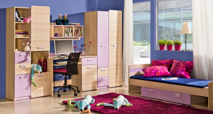 Moderná a lacná detská izba LORENTO zostava 3