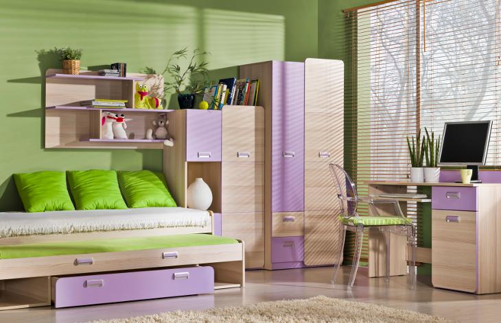 Moderný nábytok do detskej izby LORENTO 4