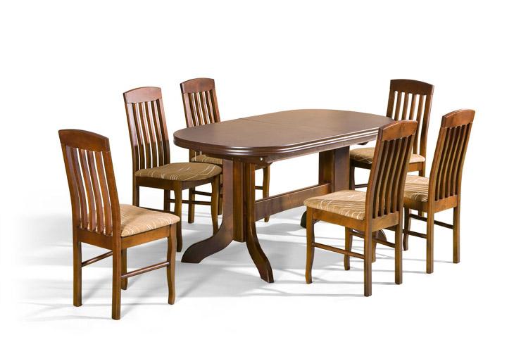 Stôl Mars + stoličky P-7 (1+6) - Súprava M12 - viac farieb