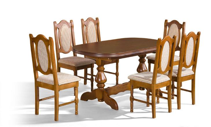 Stôl Mars 1 + stoličky NW (1+6) - Súprava M19 - viac farieb