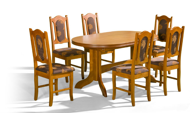 Stôl Mars 2 + stoličky P-2 (1+6) - Súprava M18 - viac farieb