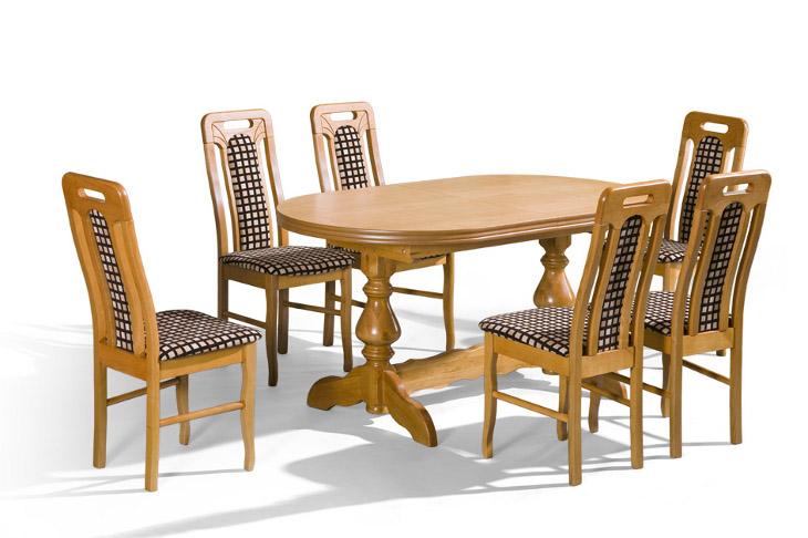 Stôl Mars 3 + stoličky P-19 (1+6) - Súprava M17 - viac farieb
