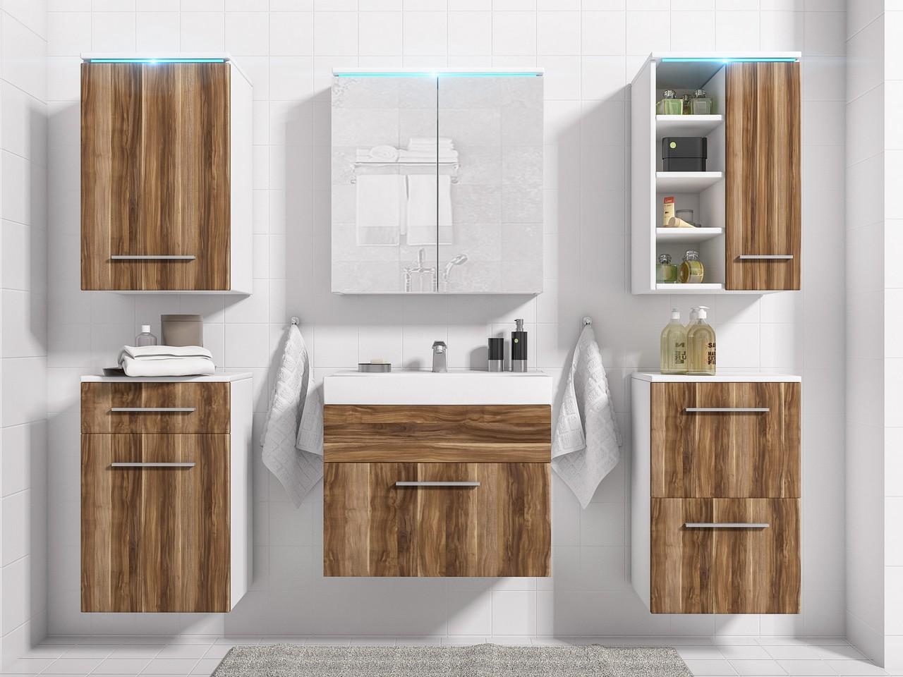 Kúpeľňový nábytok MEGI 12 biely/Slivka
