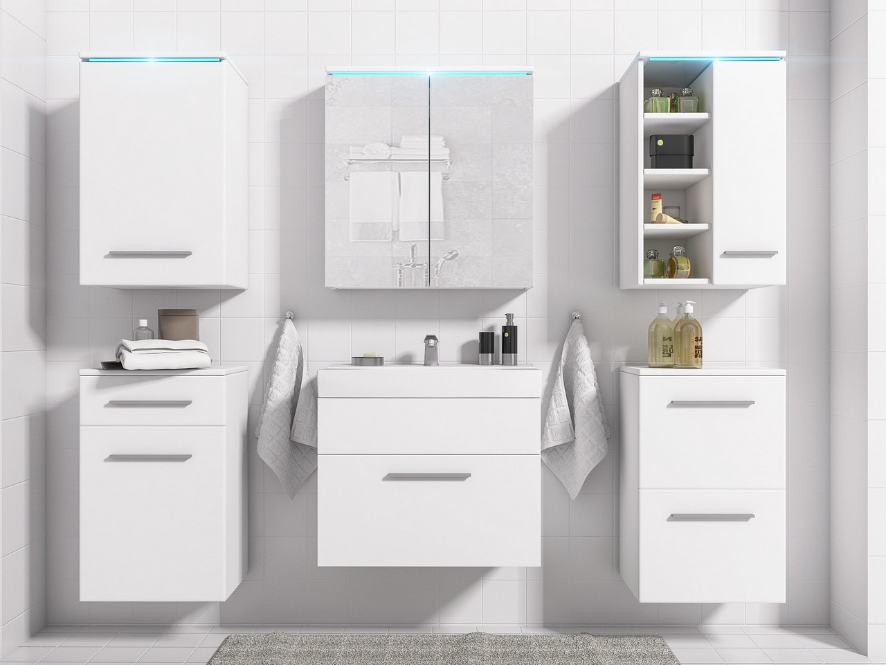 Kúpeľňa MEGI zostava 2 Bely mat
