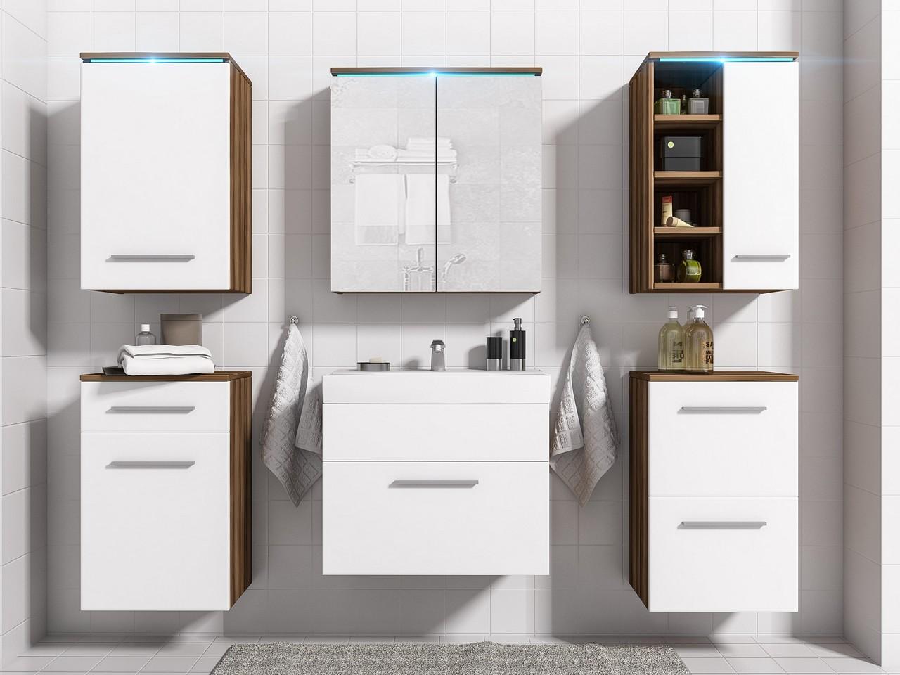 Nábytok do kúpeľne MEGI 3 Slivka / Biely mat