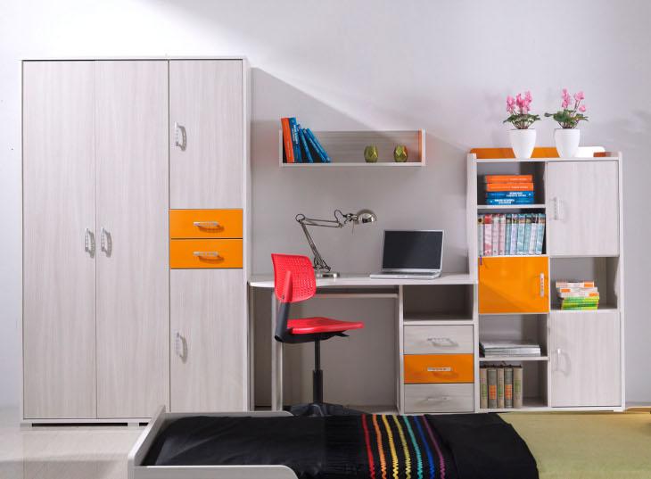 Moderná detská a študentská izba NEMO 10 pre chlapcov a dievčatá