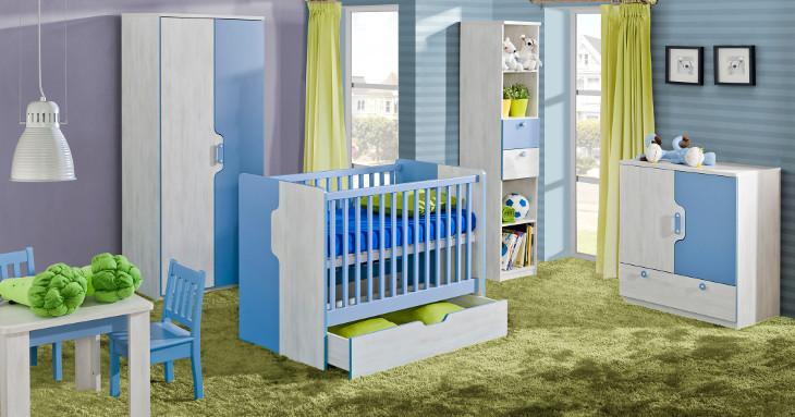 Detská izba pre bábätko s rastúcou postieľkou NUKI zostava 5