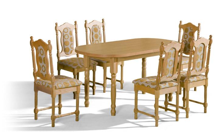 Stôl ORION + stoličky SW (1+6) - Súprava M28 - viac farieb