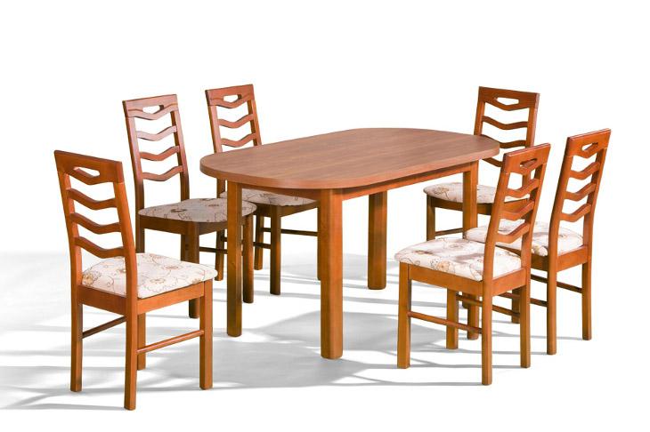 Stôl ORION P + stoličky P-9 (1+6) - Súprava M30 - viac farieb