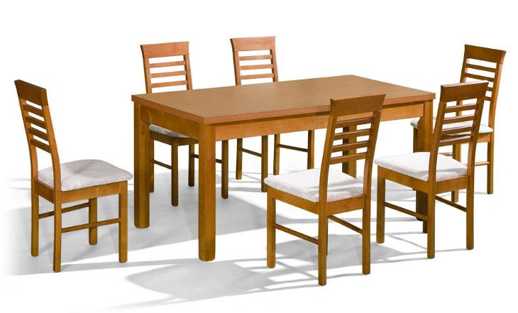 Stôl ORION + stoličky P-14 (1+6) - Súprava M14 - viac farieb