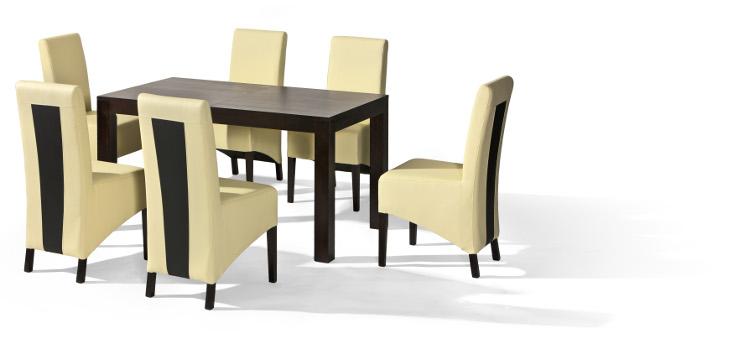 Stôl POLO + stoličky U-6 (1+6) - Súprava M5