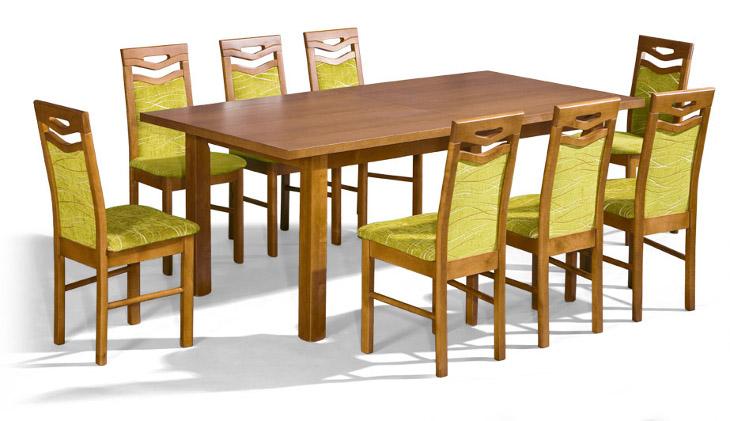 Stôl Prezydent + stoličky P-10 (1+8) - Súprava M11 - viac farieb