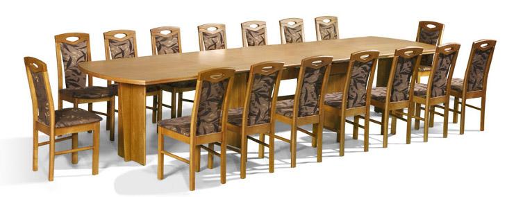 Stôl Rafał + stoličky P-18 (1+16) - Súprava M23