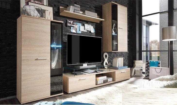 Moderná obývacia stena SIGMA sonoma