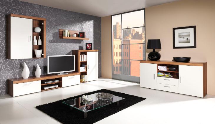 Elegantná obývacia stena SAMBA 3 biela