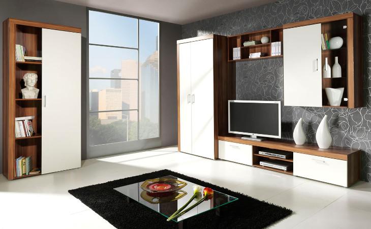 Nábytok do obývacej izby SAMBA zostava 5 biely