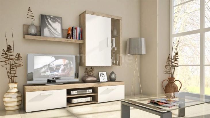 Trendy nábytok do obývacej izby SAMBA MINI Zostava 6 san marino/Biely