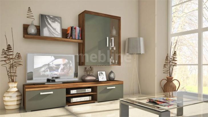 Štýlový obývačkový nábytok SAMBA MINI Zostava 2 Slivka/grafit