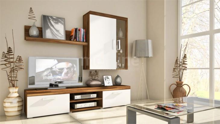 Moderný obývačkový nábytok SAMBA MINI Zostava 1 Slivka/Biely